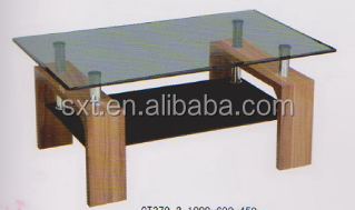 Beau 2015 Modern High Quality Wooden Center Table Design With Glass Top
