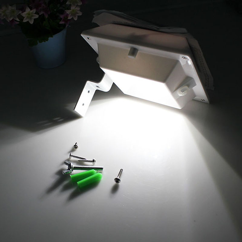 motion sensor light 4 led square outdoor garden fence led solar gutter lightmotion sensor