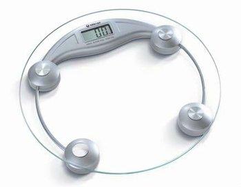 Round Tempered Glass Digital Bathroom Scale 150kg/330lb