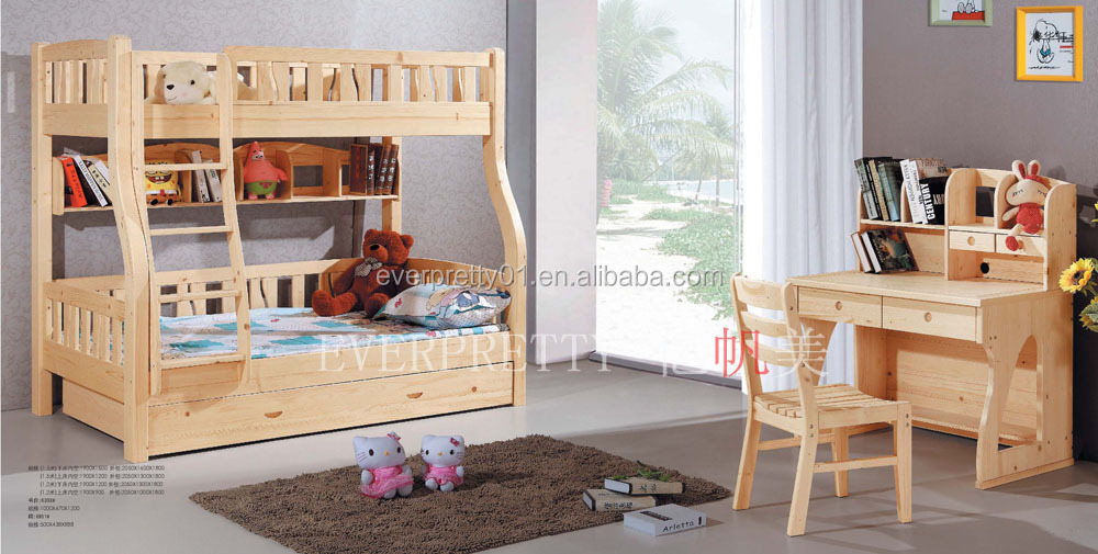 Bedroom Sets Furniture Kid Solid Wooden Bunk Bed