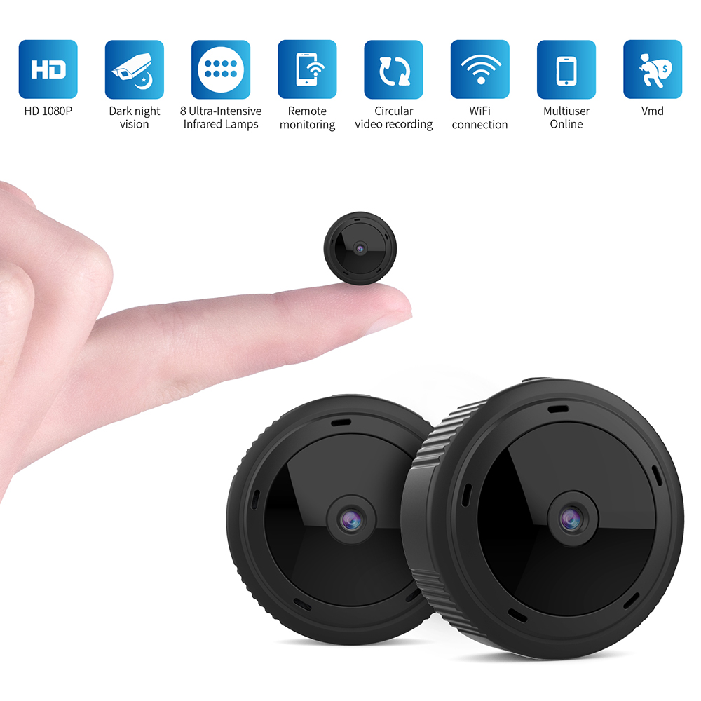 High Quality Remote Control Hidden Camera Portable Baby Monitoring Spy Camera Wide Angle For Baby Security  W-10