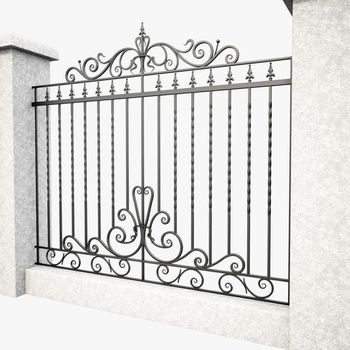 Wrought iron gate Fences(15 years factory)