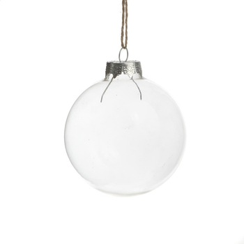Elegant Clear Glass Marble Christmas Ornaments
