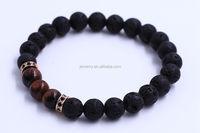High Quality Red Tiger Eye Beads Lava Stone Bracelet For Men Women Natural Stone Bead Bracelet Wristband