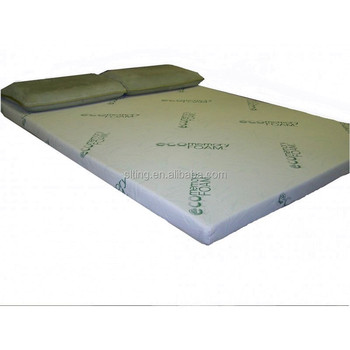 memory foam queen mattress topper pad with bamboo quilting