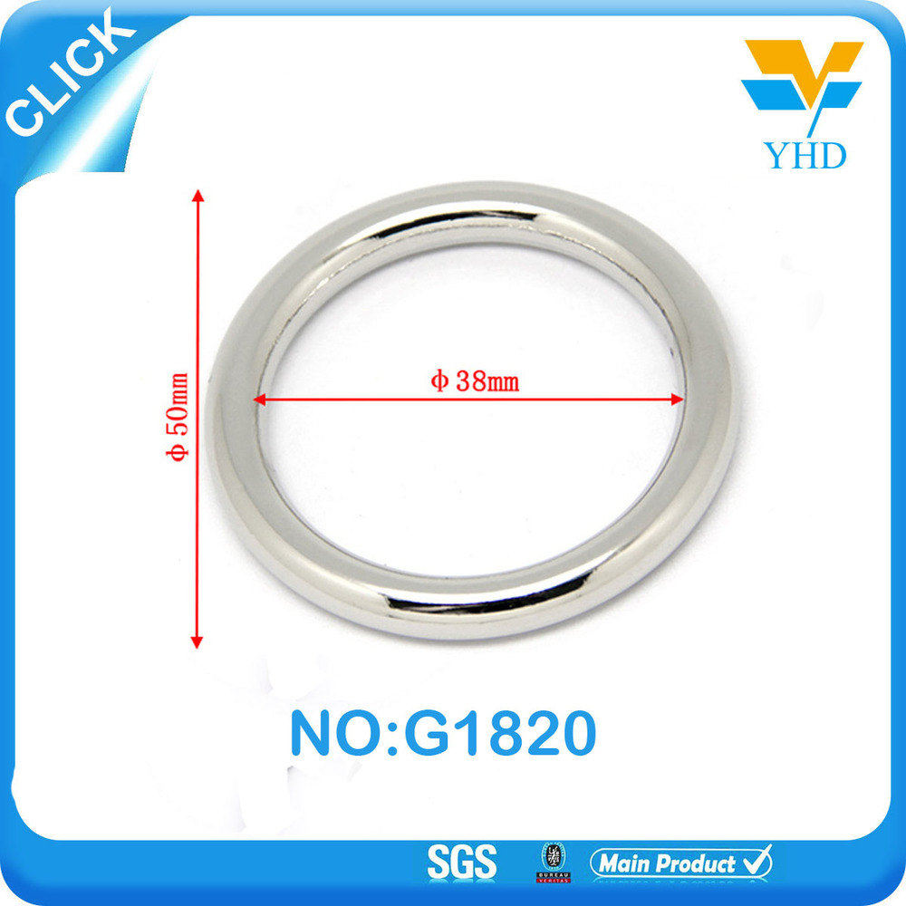 2017 factory wholesale large metal rings accessories for bags hardware accessories