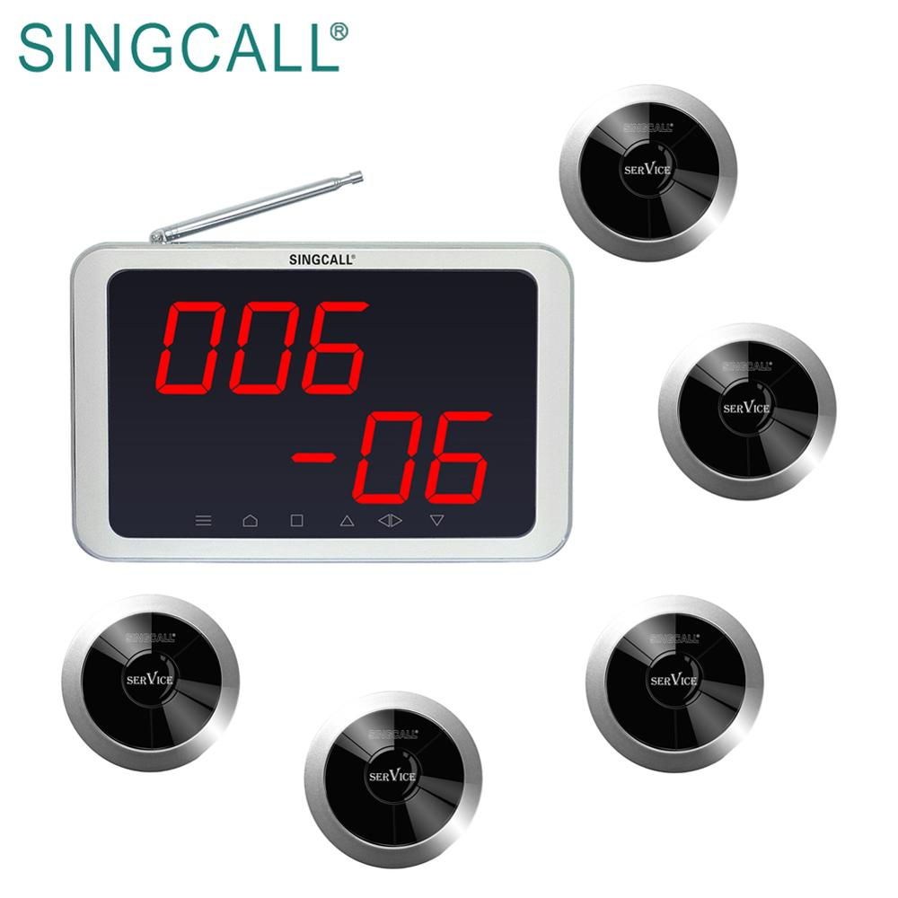 Restaurante pagers coaster led número digital display chamada SINGCALL