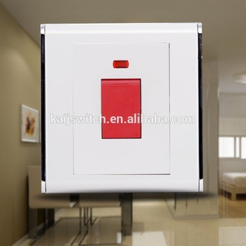 Wall Mount 25a Dp 1 Gang Push Button Switch With Led Light ...