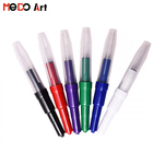 Unique colourful blow water color plastic pen