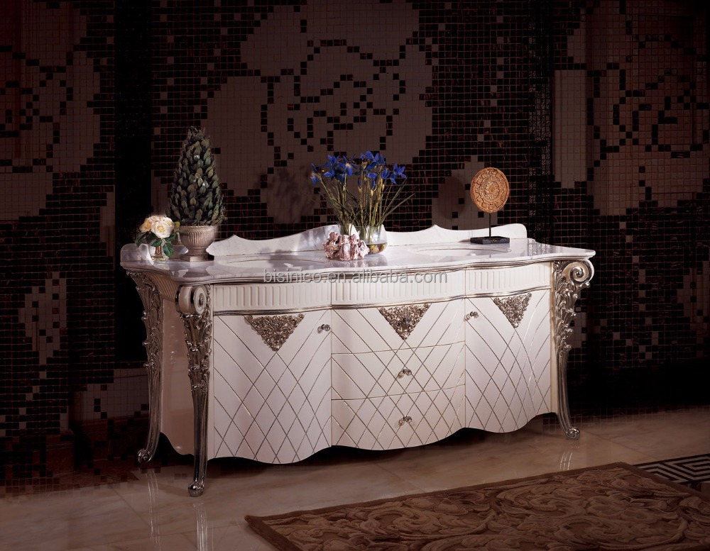 Rome Style White Color Hand Carving Bathroom Vanity,European ...