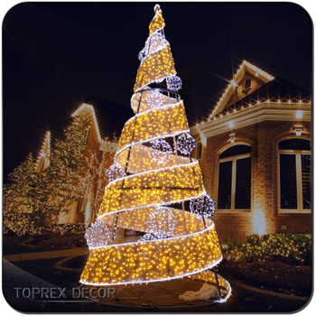 Giant outdoor commercial lighted metal spiral rope light christmas giant outdoor commercial lighted metal spiral rope light christmas tree for plaza aloadofball Choice Image