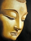 Modern Home Goods Abstract Wall Art Buddha Face Oil Painting on Canvas