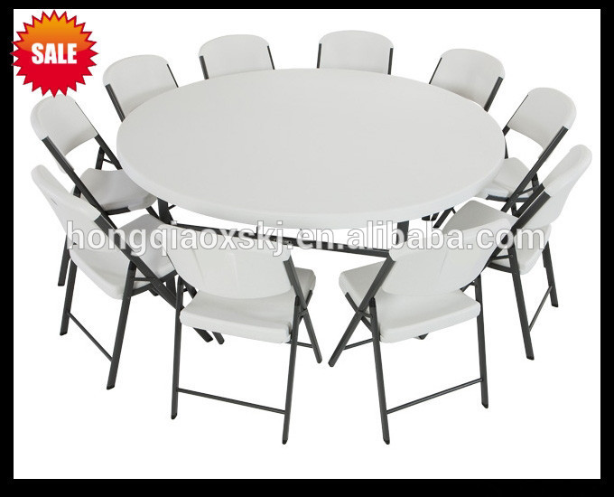 6ft plastic folding round table banquet folding table big for 6 foot round dining table
