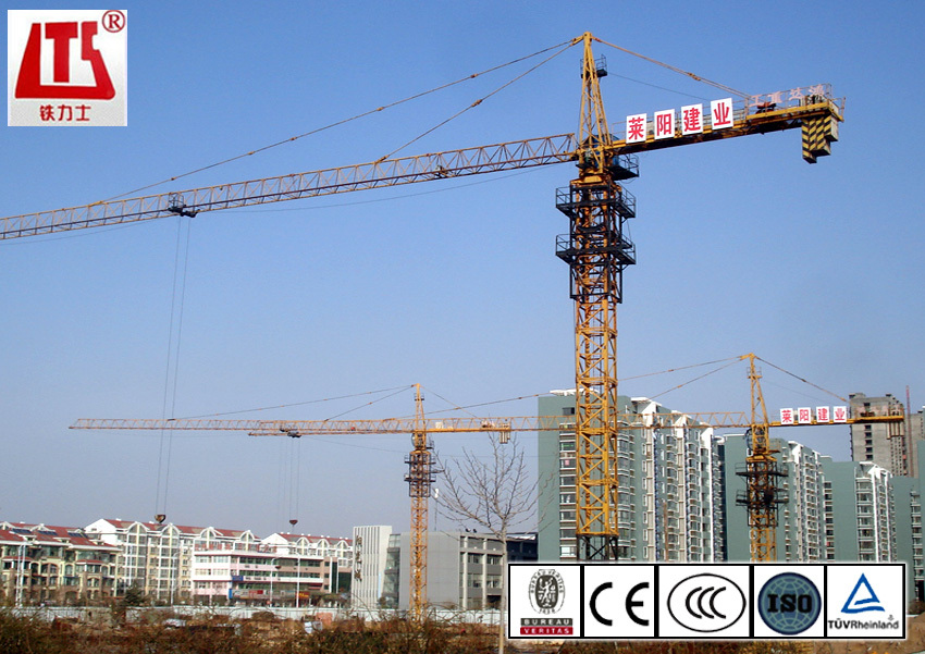 kit head tower crane 10t frequency conversion tower crane for export