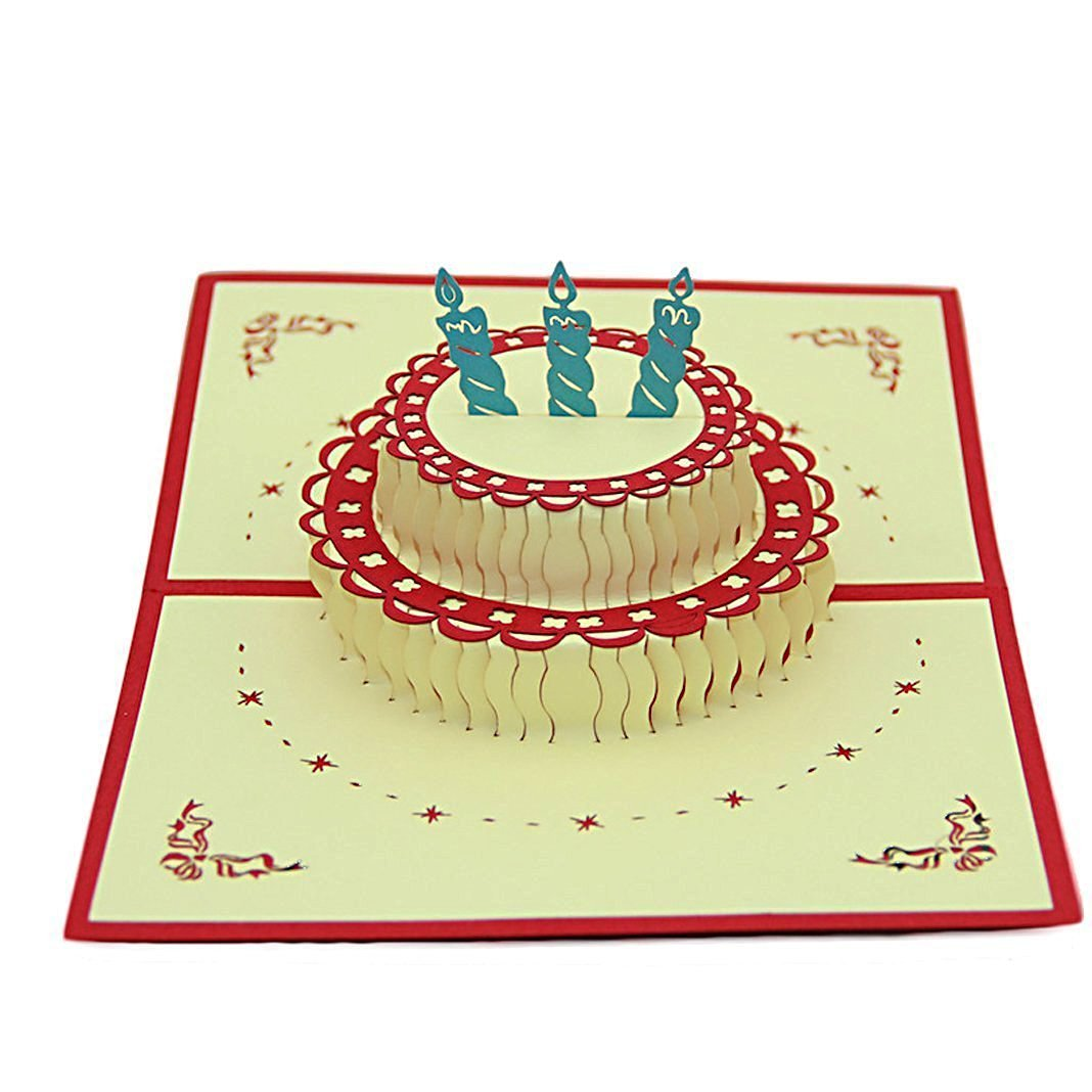Любовью ребенку, объемная открытка своими руками на день рождения с тортом