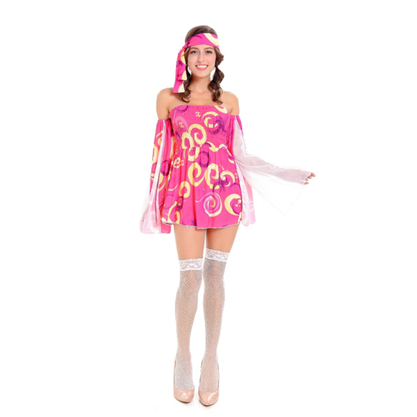 60 S 70 S Go Girl Retro Hippie Baile Groovy Disco Party Fancy Dress ...