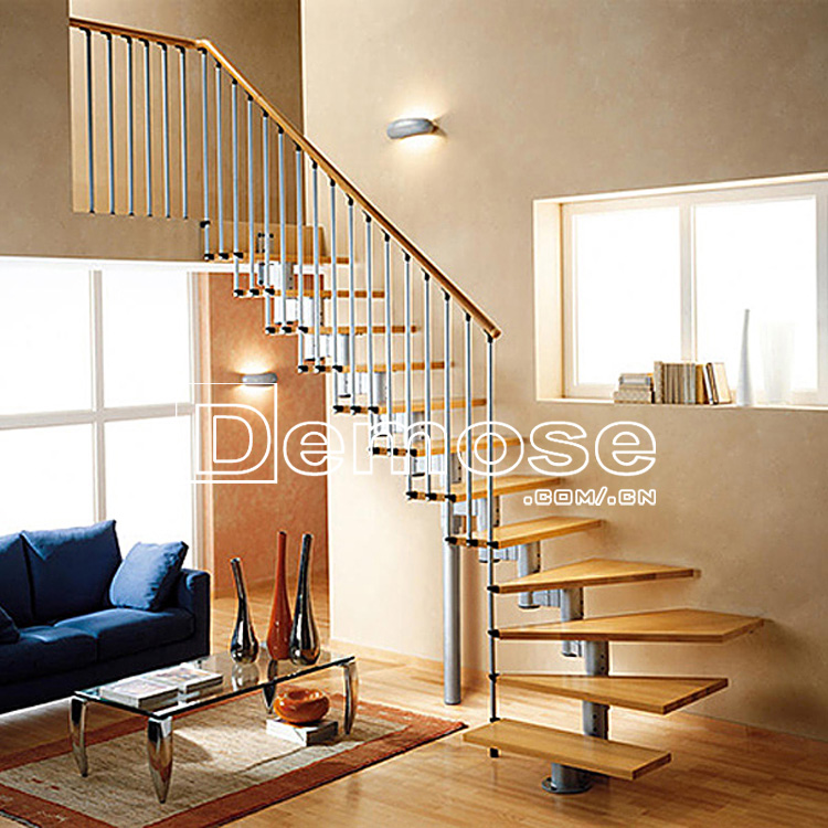 Metal Frame Loft Centre Mini Wood Stairs