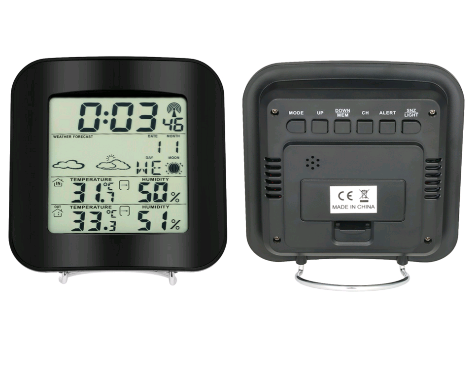 Color Weather Station with Wireless Temperature and Humidity Sensor