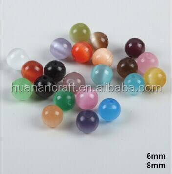 Cat eye 6mm/8mm/10mm perles pour chapelet faire