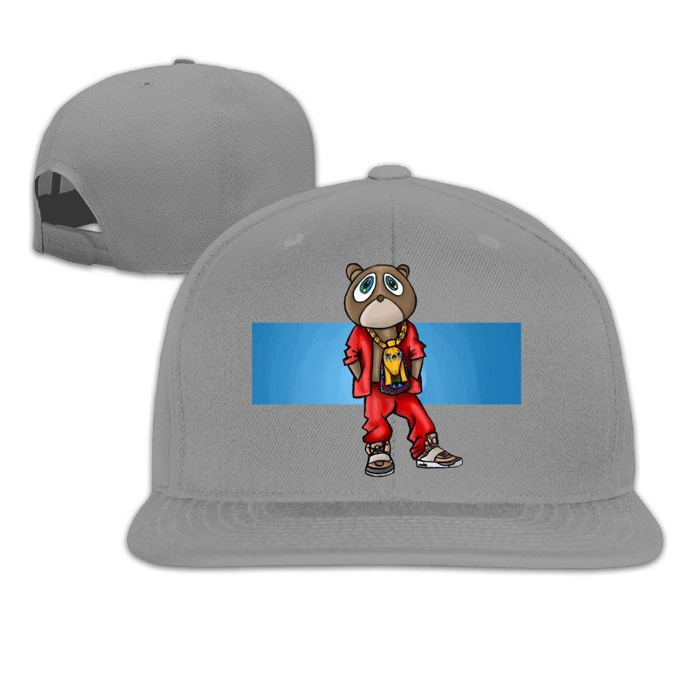 Get Quotations · Adjustable Cotton Baseball Caps Hat Kanye West Bear  Embordiery e43f4d557