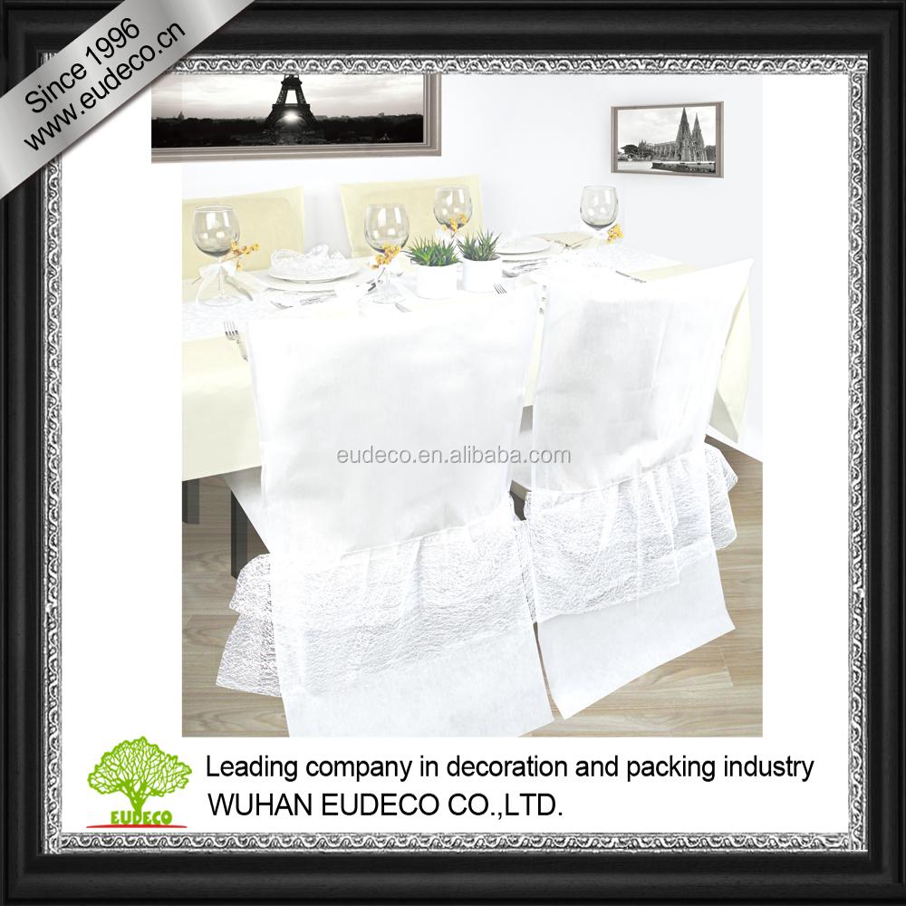 White Non Woven Chair Cover