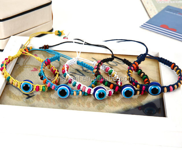 fashion cheap evil eye bracelet, quality fashionable tai jewelry bracelets
