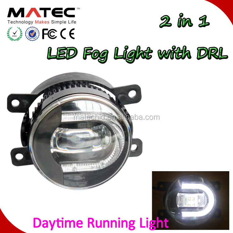 top selling auto fog lamp drl 30W 3600lm bright yellow blue white color 3.5inch car LED fog lights
