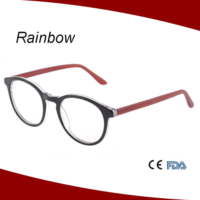 New design acetate model mixed color eyewear frame china wholesale A15383