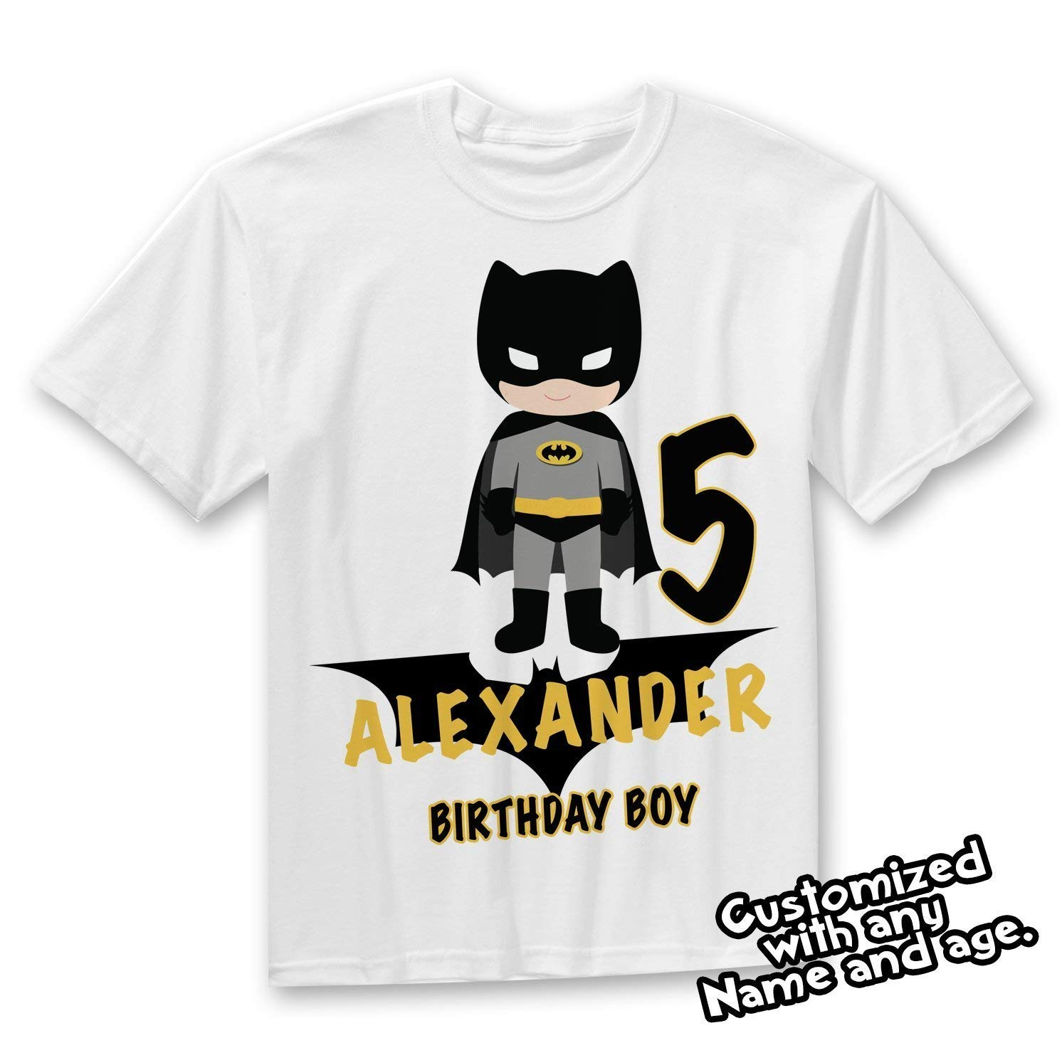 Batman Shirt Birthday Party Custom