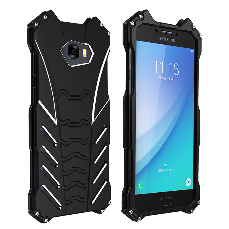 R-Just Batman Metal C5 Aluminum Armor Cover R Just Mobile Phone case Galaxy C5 C5 C7 C9 Pro
