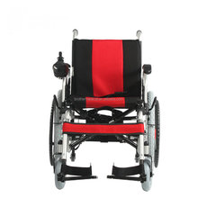 Wide wheels handicapped electric wheelchair