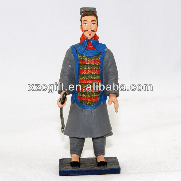 Qinshihuang Soldier Warriors Figurine POP Metal/Pewter Gift Handicraft mqs013