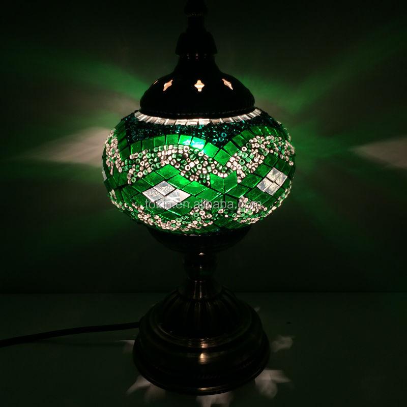 Tokin Lighting (TC1M01) Handmade Mosaic Art Turkish LED Table Lamps