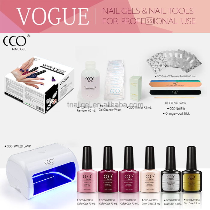CCO Easy Apply 4 Colors Nail Polish Art Set Professional Nail Gel Kit Full Set With Popular Colors Gel