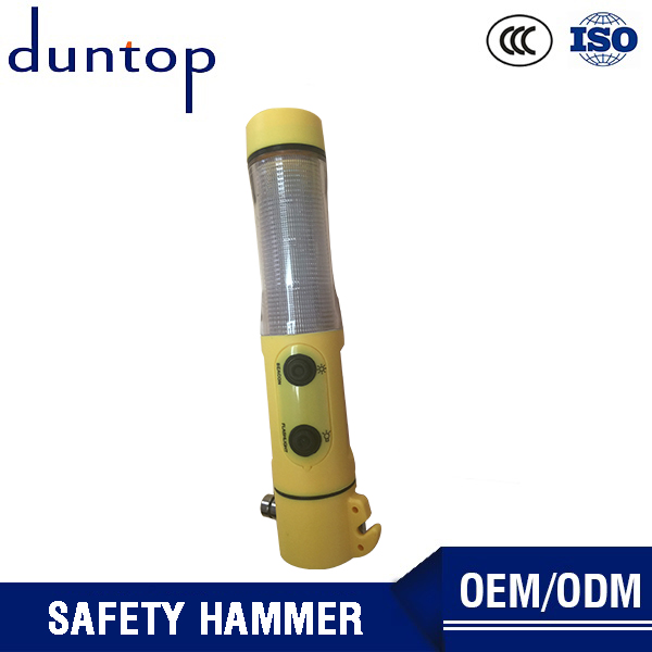 Duntop Breaking Tool Built In Led Flashlight Auto Emergency Life Safety Hammer
