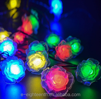 Outdoor Fairy Lighting 2016 new hot sale solar powered multicolor 20 led outdoor fairy 2016 new hot sale solar powered multicolor 20 led outdoor fairy light rose shaped christmas string workwithnaturefo
