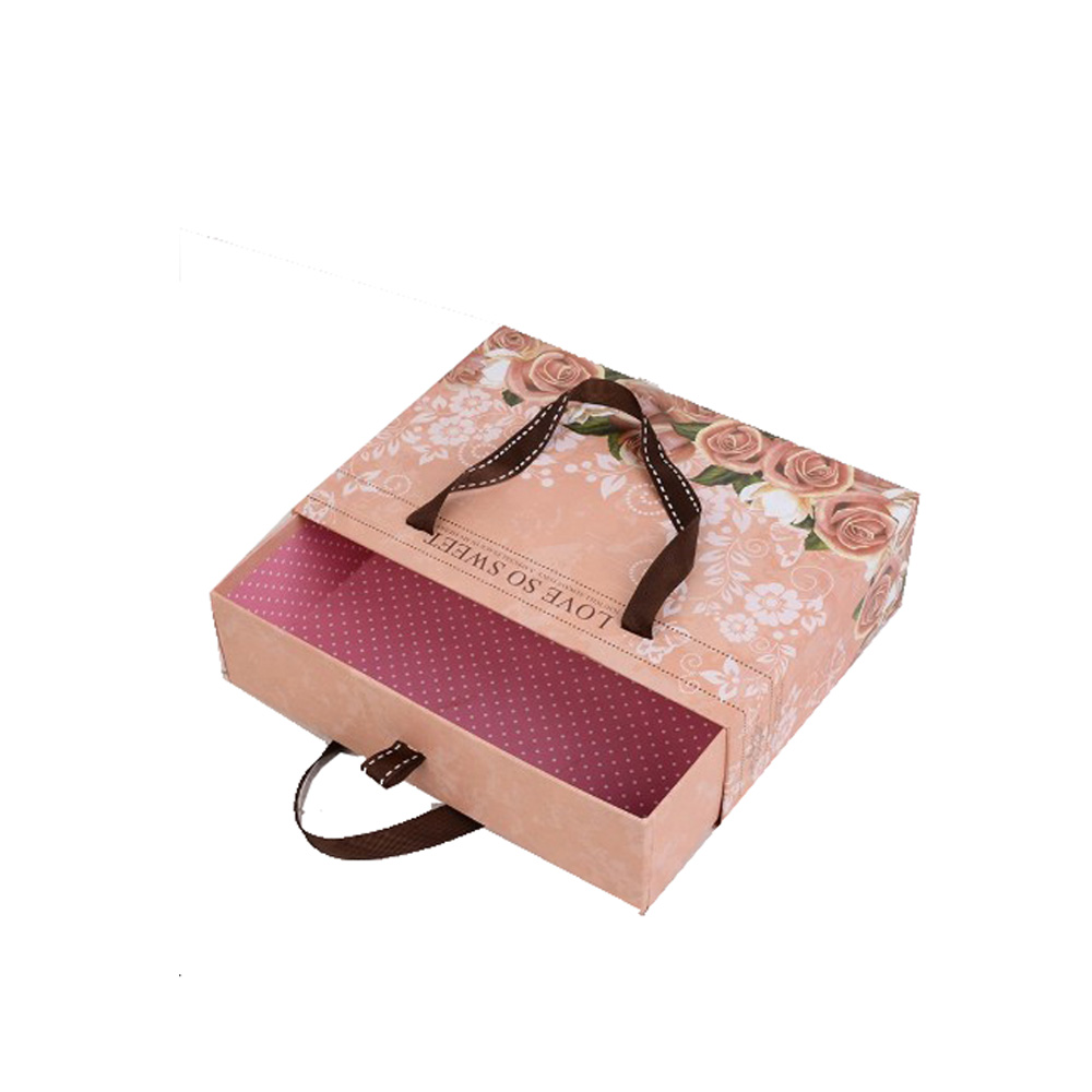 Customized Luxury Hair Extension Packaging Box with Handle