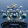 Fashion colorful Heart crystal Pageant Crowns for Children