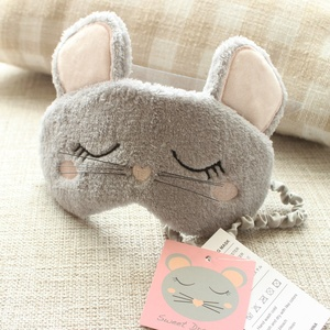 Wholesale Coral fleece Lovely Cartoon Mouse Eye Mask For Sleeping