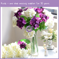 K9449 Latest wedding table centerpieces artificial silk hydrangea flowers