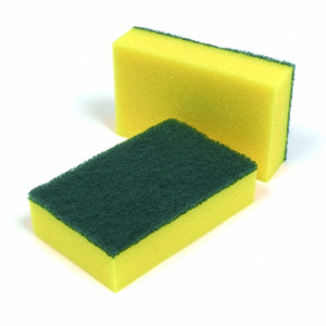 Cleaning Sponge Scouring Pad Sponge scourer with heavy duty scouring pad