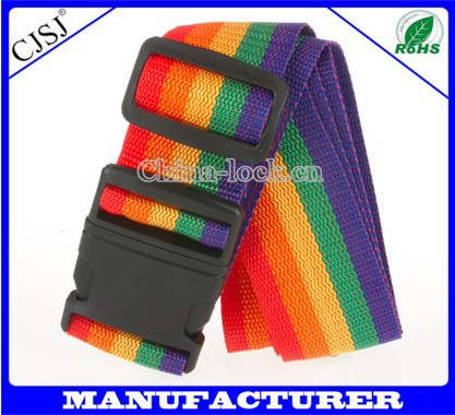 high quality adjustable PP strap and PC buckle luggage belt set