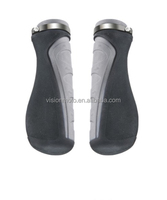 High quality Comfortable natural rubber grey motorcycle handlebar grips