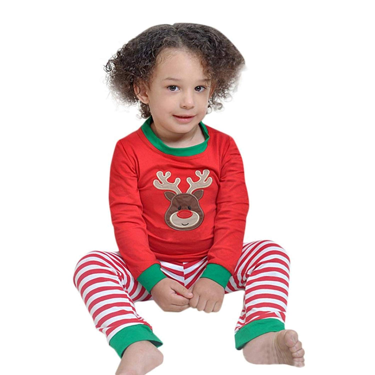 TRENDINAO Toddler Kids Girls Clothes Long Sleeve T-Shirt+Pants Outfits Clothes Set