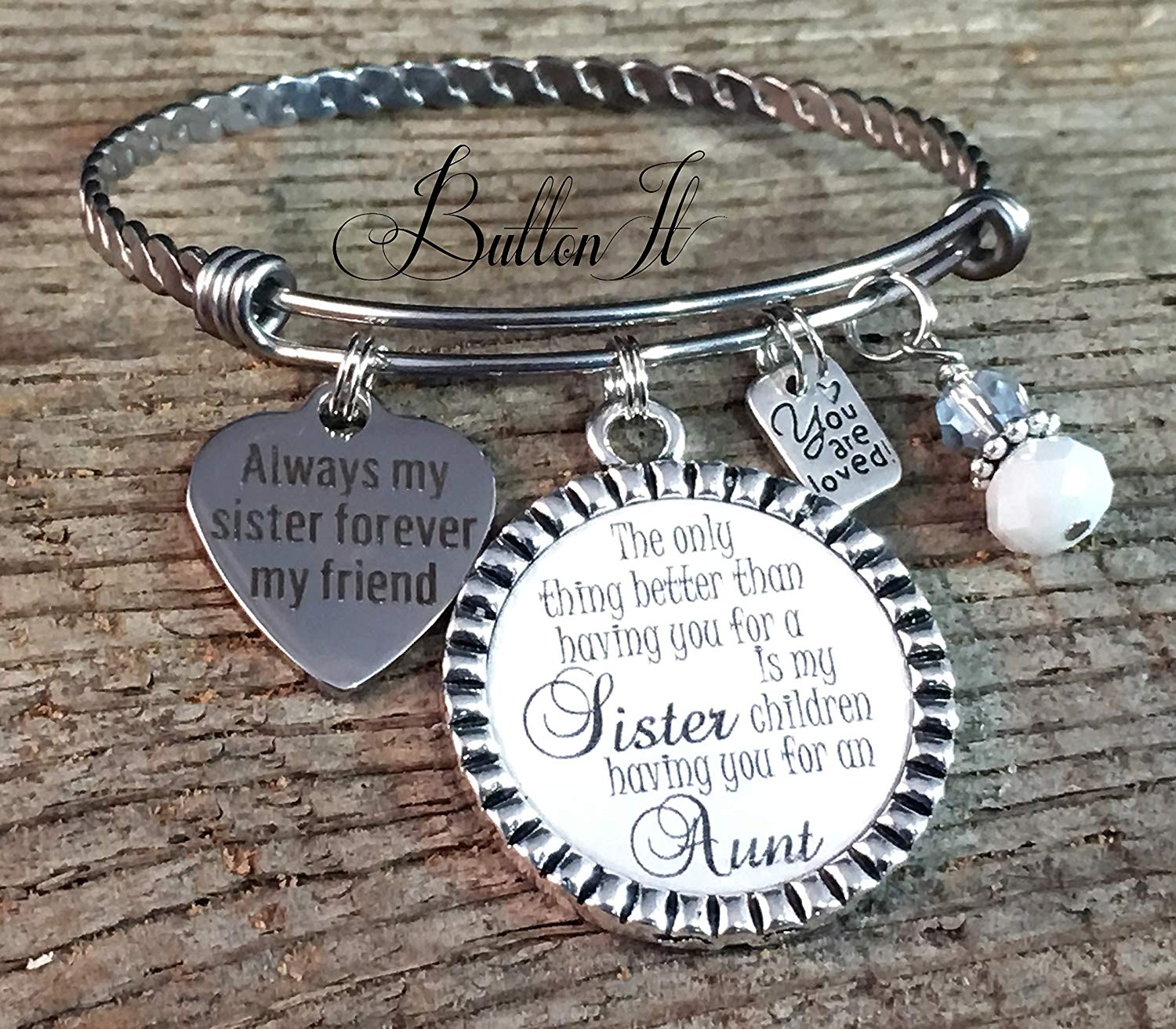 Get Quotations BANGLE Bracelet Sister Gift Aunt SISTER Jewelry Mothers