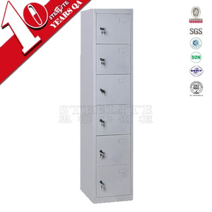 Factory Direct 6 door wall safe cheap school locker