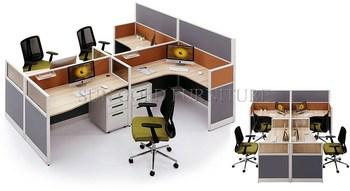 Moderne sexe meubles séparateur de bureaux workstation bureau pour