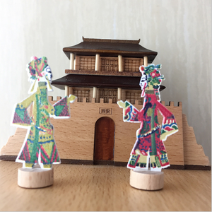 New creative Shadow play wooden music box dancing doll for girlfriend gift