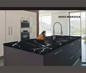 Low Price Black Color Crack Resistance Calcutta Artificial Engineering Quartz Stone