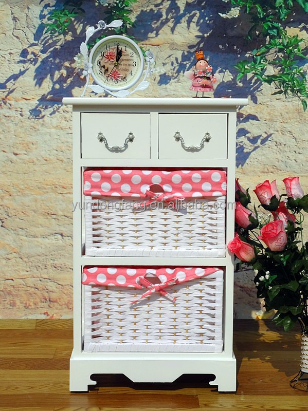 China Wooden handicraft sweet Bedroom Collections drawer cabinet